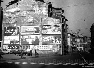 Piazza Rovetta e via San Faustino - 1977