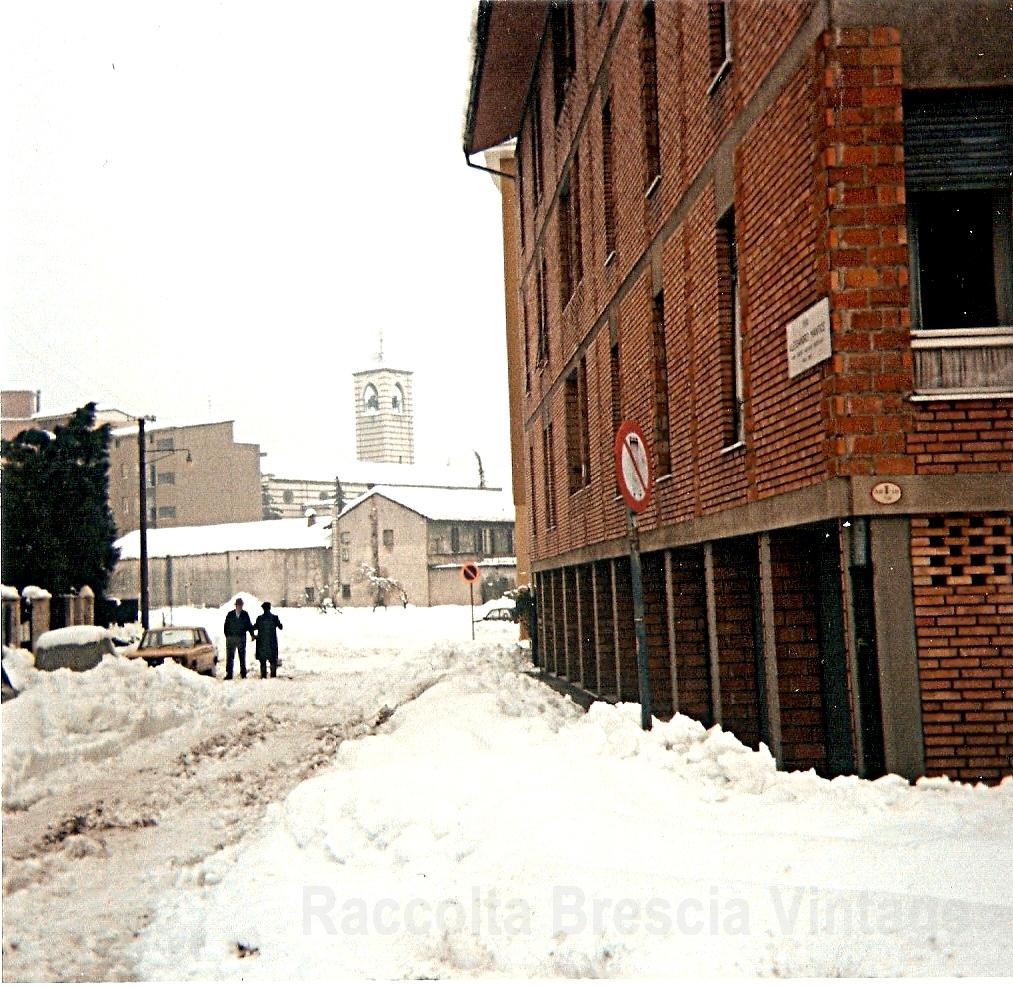 BRESCIA GENNAIO 1985 VIA MANTICE