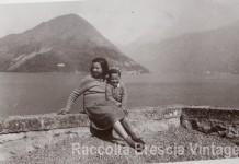 """Io e mia sorella Anna"" - Lago d'Iseo 1951"