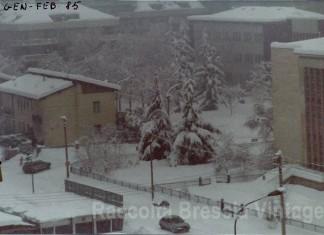 Nevicata del 1985. Siamo in via Gamba angolo con via Veneto.