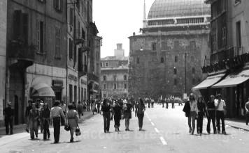 Via San Faustino e Piazza Rovetta - Brescia 1979