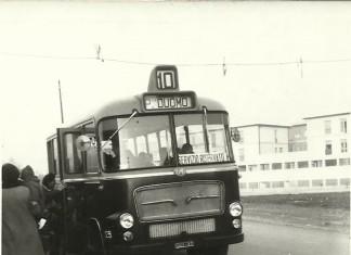 In bus dal quartiere Casazza al centro città - Brescia 1967