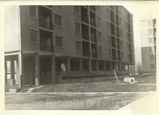 Costruzione dei condomini IACP - Via Casazza Brescia 1966