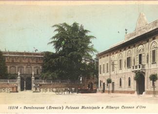 Verolanuova-palazzo municipale e albergo - anni 30