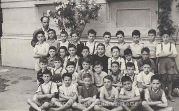 Classe 4a elementare - Scuola in via dei Mille - 1950