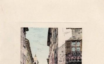 Scorcio di Corso Goffredo Mameli - Brescia - Biglietto di auguri 1957