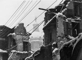 Via Dante devastata dei bombardamenti - Brescia 1945