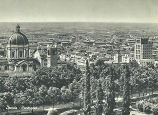 Panorama della città - Brescia 1955