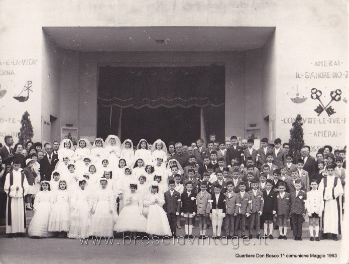 Prima Comunione - Chiesa dei Salesiani al Quartiere Don Bosco -1963