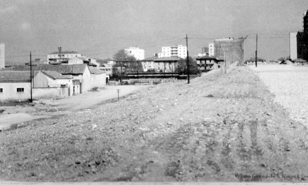 la costruzione del cavalcavia Kennedy 1958