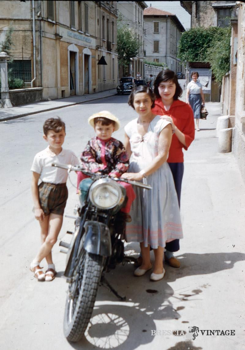 Via Benacense nel 1955 Brescia
