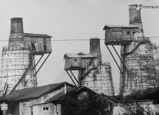 Le fornaci della calce a Ponte Crotte nel 1972