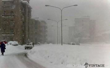 """Via Cefalonia sommersa dalla neve"" - Gennaio 1985"