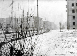 Inverno in via Lamarmora Brescia