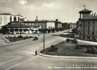 Piazzale Roma e viale stazione a Brescia anni 1930