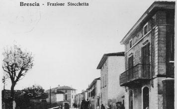 Il tratto di strada Triumplina che da Brescia portava alla Stocchetta all'altezza dell'attuale sottopassaggio Auchan