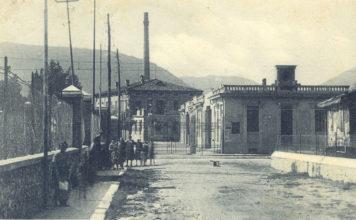 Ingresso dell'opificio Rossi prima che fosse realizzata l'attuale Strada Triumplina -1925