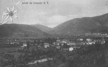 Panorama di Concesio preso dalla Verdura (circa 1920)