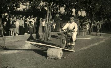 Ginkana in paese a Collebeato- 1952