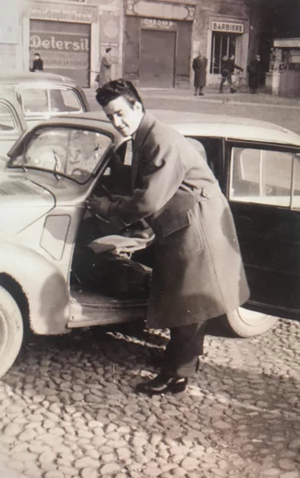 Piazza della Loggia in Topolino – 1958
